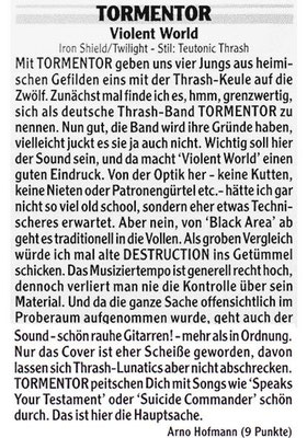 Heavy Review, 2012