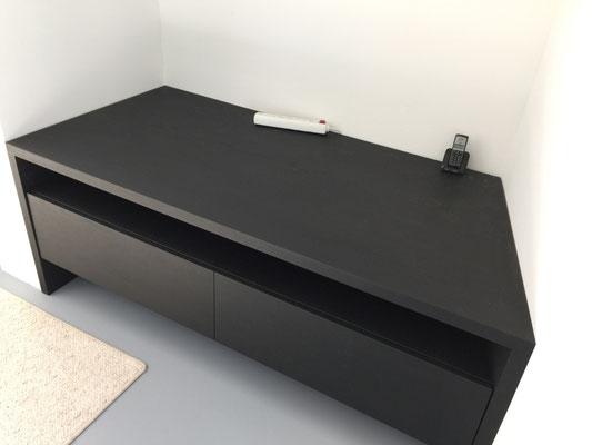Zwarte Eiken gefineerd tv-meubel
