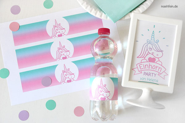 coole Printlabels für Flaschen - nähfein