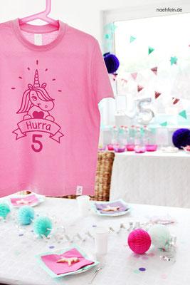 niedliches Geburtstagsshirt mit Einhorn - nähfein