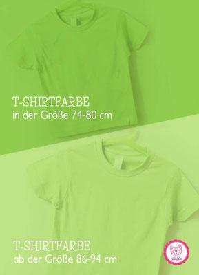 nähfein -  T-Shirtfarben in versch. Größen - Grün