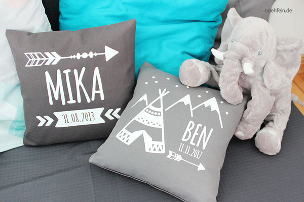 personalisierte Babykissen für Jungen - nähfein