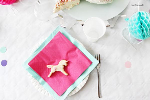 Einhorn Kekse perfekt für eine Party - nähfein