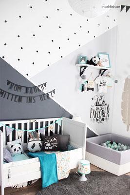 Kinderzimmergestaltung für ein Baby im wild one Stil - nähfein