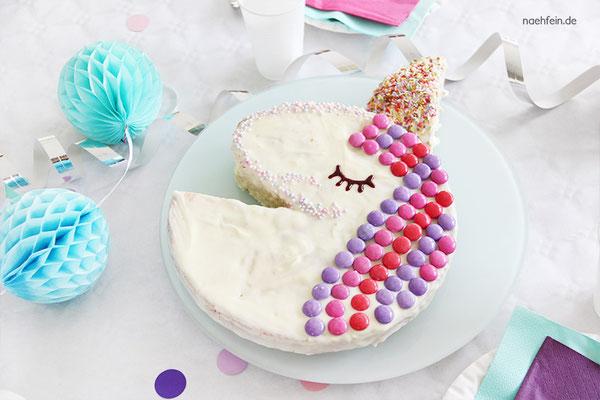 süßer Einhorn Kuchen selbstgemacht - nähfein