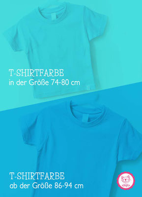 nähfein -  T-Shirtfarben in versch. Größen - Türkis