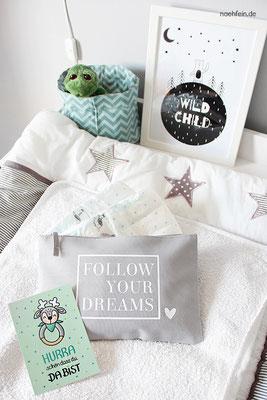 coole Tasche für die Babysachen - Babyzimmer in Grau - nähfein