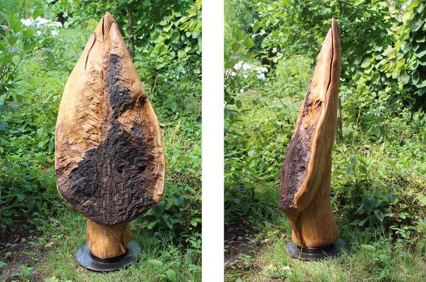 »Herzblatt« aus Eiche, H: 110 cm