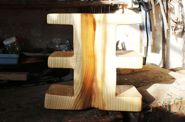 Doppel »E« aus Esche, H: 38 cm
