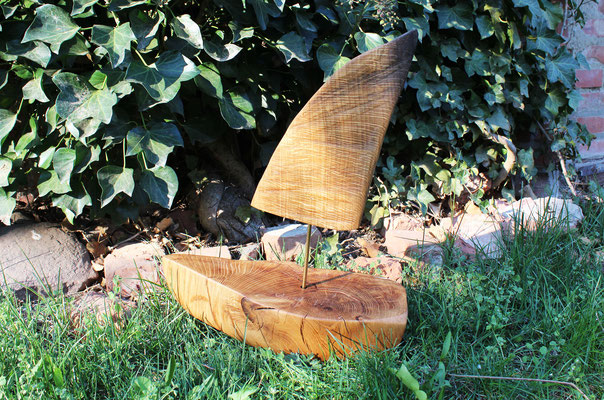 Schiffchen aus Eiche, L: 40 cm