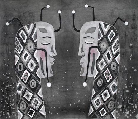 """Индивидуальности"", горячий батик, р-р 55Х65, 2015г. В НАЛИЧИИ"
