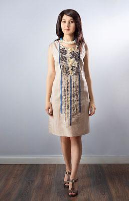 """платье из коллекции """"Нехоженые тропы"""" с эко-принтом"""