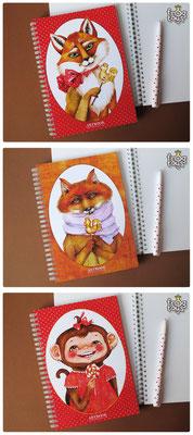 Артбуки с животными, формат А5