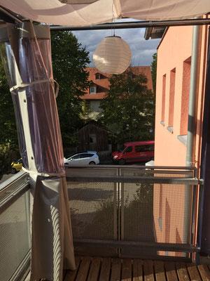 Innenansicht Balkon offen