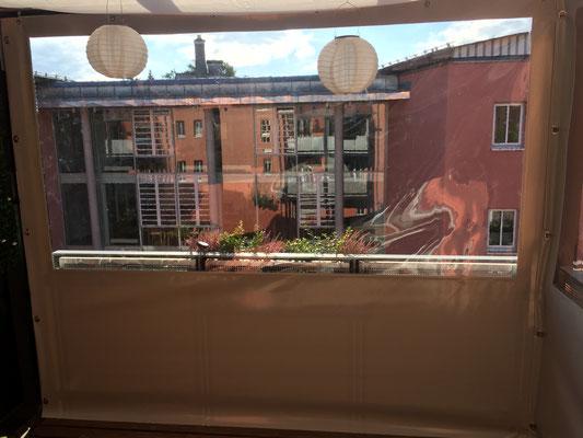 Innenansicht Balkon geschlossen