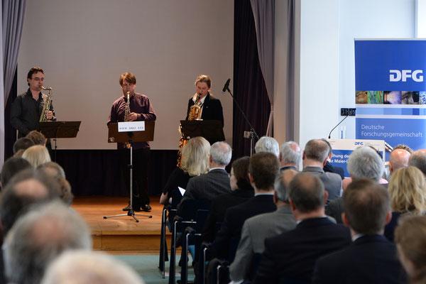 DREI Das Berliner Holzbläsertrio 05.05.2015 Heinz Maier Leibnitz Preisverheihung Foto:DFG Ausserhofer