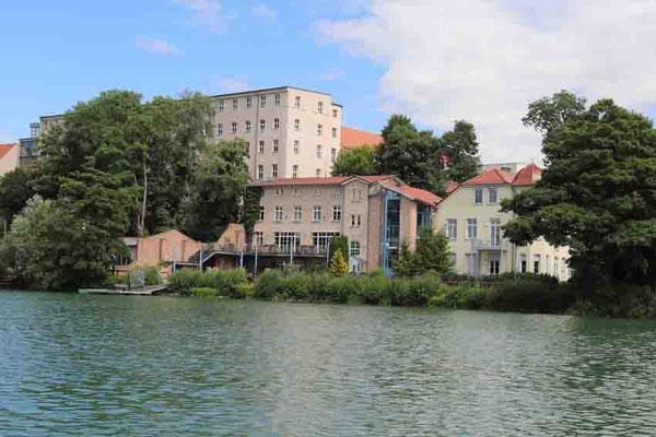 """Blick von der """"Annemarie"""" auf den Fischer-Kietz - Strausberg"""