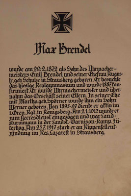 """""""Der Erste Weltkrieg - Ursachen und Folgen"""" Max Brendel - Sohn des Urmachermeisters Emil Brendel aus Strausberg"""
