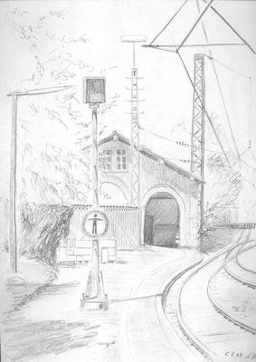2009,Bleistift auf Papier, 30x21 cm / Warten