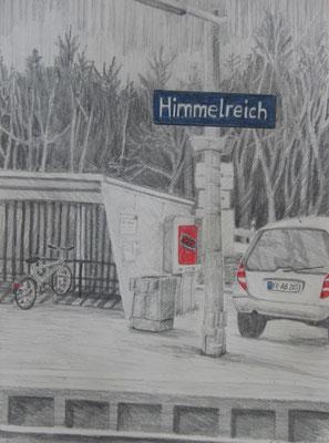 2011, Bleistift und Buntstife auf Papier, 30x21 cm / Warten