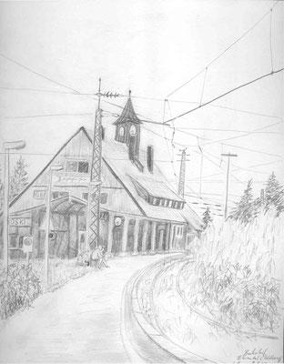 2009, Bleistift auf Papier, 27x21 cm / Warten