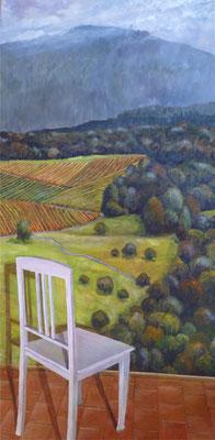 2010, Acryl auf Leinwand, 100x50 cm / Stuhl