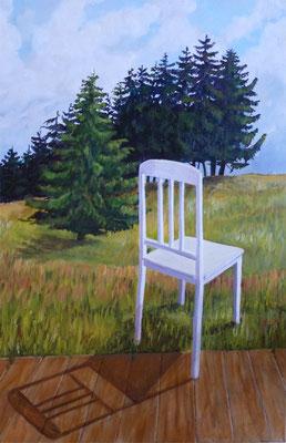 2011, Acryl auf Leinwand, 60x40 cm / Stuhl