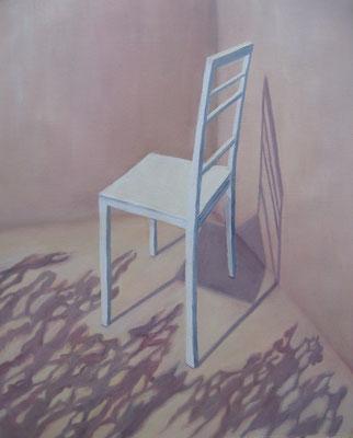 2011, Öl auf Papier, 53x42 cm / Stühle