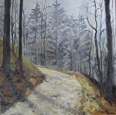 Kybfelsensteig I, 2008, Öl  auf Leinwand, 35x35 cm