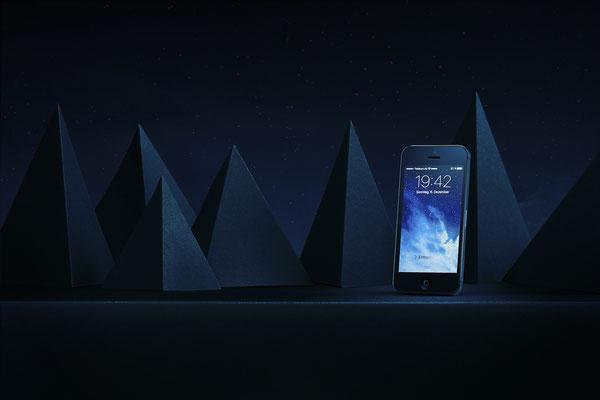 Produktfotografie eines iPhone.