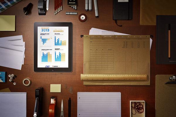 Frei Werbe-Aufnahme  iPad
