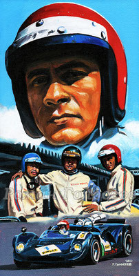 """""""Команда Тойоты, Сатио Фукузава"""", 29х15, картон,масло, 23.12.2017"""