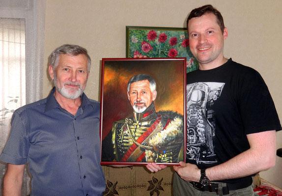 Встреча с учителем, А.Ф.Литценбергер, мой подарок картина. Я вижу его таким, он очень много сделал для меня, чтобы я состоялся как художник)). 30.05.2015