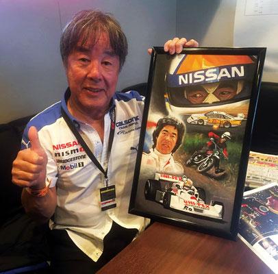 Мои картины подарили гонщикам из Японии Кадзуёси Хосино и Сатору Накадзима))