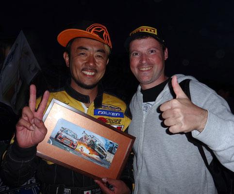 Мои картина подарил японии гонщик Тэцуя Хибино. 21.09.2014