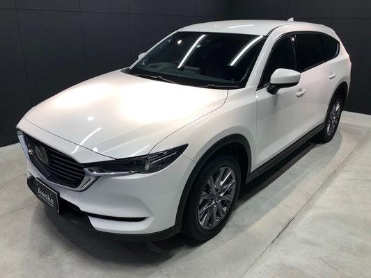 岡山の新車のマツダCX-8にガラスコーティング