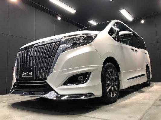岡山の新車トヨタミニバンにガラスコーティング