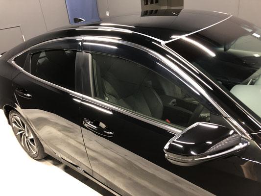 岡山の新車のホンダインサイトにガラスコーティング