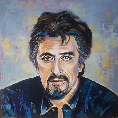 Al Pacino Acryl auf Leinwand 100 x 100 cm