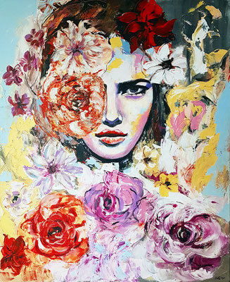 Lilly Acryl auf Leinwand 90 x 120 cm
