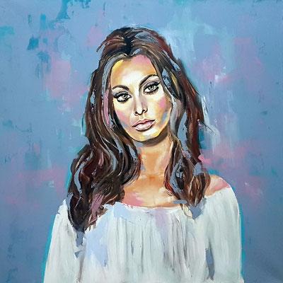 Sophia Acryl auf Leinwand 80 x 80 cm