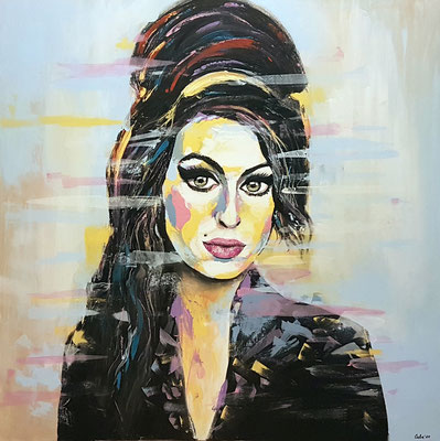 Amy Winehouse Acryl auf Leinwand 100 x 100 cm