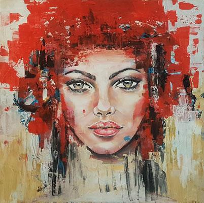 Laura Acryl auf Leinwand 80 x 80 cm