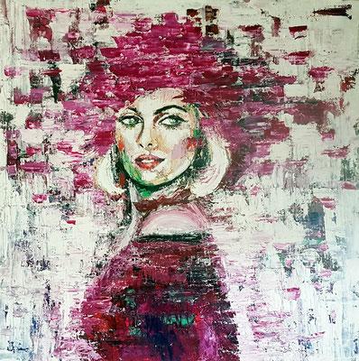 Carmen Acryl und Öl auf Leinwand 100 x 100 cm