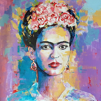 Frida Acryl auf Leinwand 100 x 100 cm