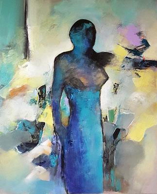 Frau Acryl auf Leinwand 80 x 100 cm