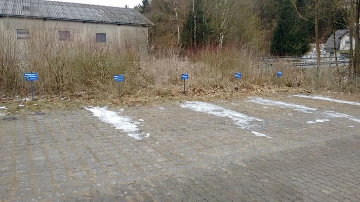 Reservierte Parkplätze