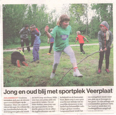 Onze trainster Samantha in de krant van de AD Dortenaar