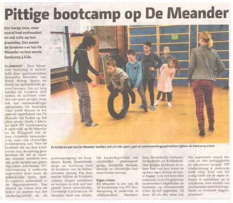 Bootcamp 4 kids voor school de Meander (2016)