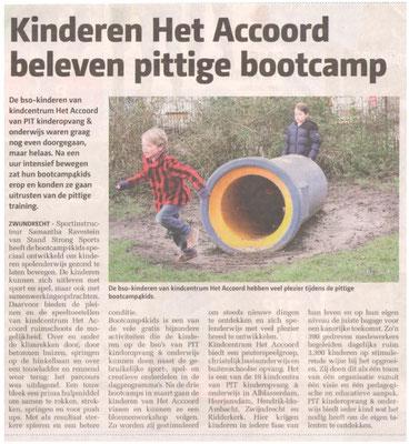 Bootcamp 4 kids voor het Accoord (2016)